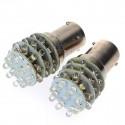 Ampoules BA15S LED P21W 35 leds Blanc 6000K Veilleuses 12V