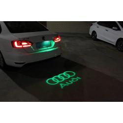 Logo coffre AUDI LED Lumière de Courtoisie Ghost Shadow