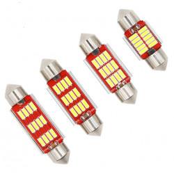 1X AMPOULE 12-LEDS FX RED C3W C5W C7W C10W