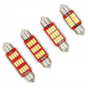 1 x Ampoule LED C5W Navette 12 LEDS FX RED Canbus Blanc Xénon 6500K