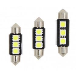 1X AMPOULE 3-LEDS FIRST C5W C7W C10W