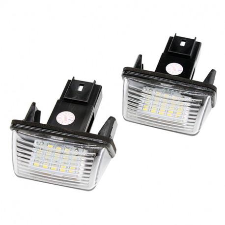 2X Modules à LED Peugeot plaque immatriculation