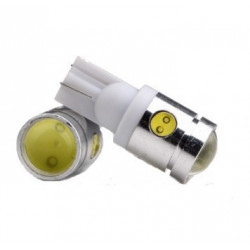 1X AMPOULE T10 LED Wedge 1W + 6 Leds