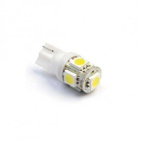 Ampoule W5W T10 Veilleuses 5 SMD Blanc