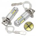 Ampoules LED H3 CREE 6000K Auto Moto Feu anti brouillard