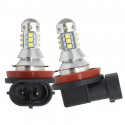 Ampoules LED H8 H9 H11 CREE 6000K 80W pour antibrouilards