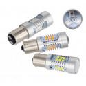 1X Ampoule P21W 21 leds Samsung Culot BAU15S