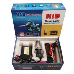 Kit Bi-xénon H4 Moto 35W - 8000K + Relais
